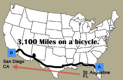 BikeFL2CA Route